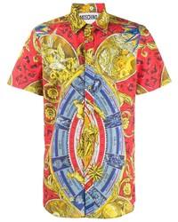 mehrfarbiges bedrucktes Kurzarmhemd von Moschino