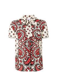 mehrfarbiges bedrucktes Kurzarmhemd von RED Valentino