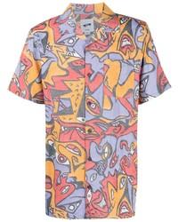 mehrfarbiges bedrucktes Kurzarmhemd von Vans
