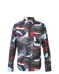mehrfarbiges bedrucktes Langarmhemd von Moncler
