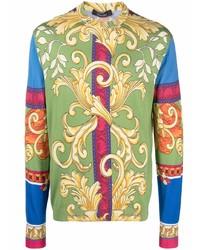 mehrfarbiges bedrucktes Langarmshirt von Versace