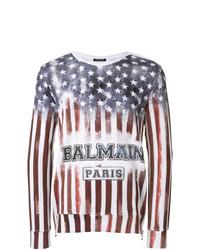 mehrfarbiges bedrucktes Sweatshirt von Balmain