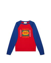 mehrfarbiges bedrucktes Sweatshirt von Gucci