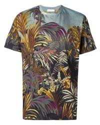 mehrfarbiges bedrucktes T-Shirt mit einem Rundhalsausschnitt von Etro