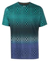 mehrfarbiges bedrucktes T-Shirt mit einem Rundhalsausschnitt von Paul Smith