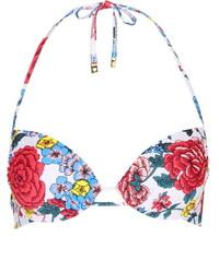 mehrfarbiges Bikinioberteil mit Blumenmuster