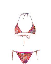 mehrfarbiges Bikinioberteil mit Blumenmuster von Etro