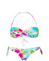 mehrfarbiges Bikinioberteil mit Blumenmuster von MC2 Saint Barth