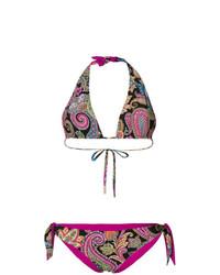 mehrfarbiges Bikinioberteil mit Paisley-Muster von Etro