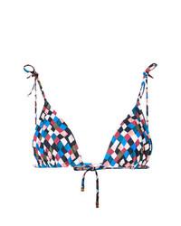 mehrfarbiges Bikinioberteil von Tory Burch