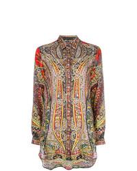 mehrfarbiges Businesshemd mit Paisley-Muster von Etro