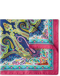 mehrfarbiges Einstecktuch mit Paisley-Muster von Etro