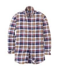 mehrfarbiges Flanell Langarmhemd mit Schottenmuster von Bexleys man