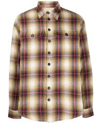 mehrfarbiges Flanell Langarmhemd mit Schottenmuster von DSQUARED2