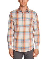 mehrfarbiges Flanell Langarmhemd mit Schottenmuster von Eddie Bauer