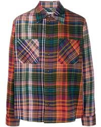 mehrfarbiges Flanell Langarmhemd mit Schottenmuster von Off-White