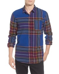 mehrfarbiges Flanell Langarmhemd