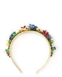 mehrfarbiges Haarband mit Blumenmuster von Dolce & Gabbana