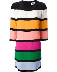 mehrfarbiges horizontal gestreiftes Cocktailkleid von Sonia Rykiel