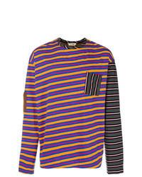 mehrfarbiges horizontal gestreiftes Langarmshirt