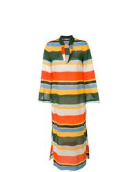 mehrfarbiges horizontal gestreiftes Strandkleid von Tory Burch