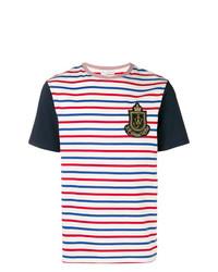 mehrfarbiges horizontal gestreiftes T-Shirt mit einem Rundhalsausschnitt von JW Anderson