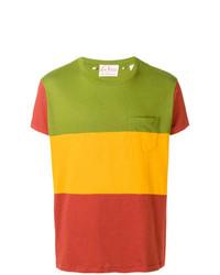 mehrfarbiges horizontal gestreiftes T-Shirt mit einem Rundhalsausschnitt von Levi's Vintage Clothing