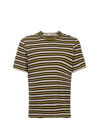 mehrfarbiges horizontal gestreiftes T-Shirt mit einem Rundhalsausschnitt von Marni