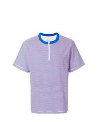 mehrfarbiges horizontal gestreiftes T-Shirt mit einem Rundhalsausschnitt von Noon Goons