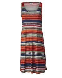 mehrfarbiges horizontal gestreiftes Trägerkleid von Angel of Style by Happy Size