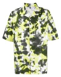 mehrfarbiges Mit Batikmuster Kurzarmhemd von McQ