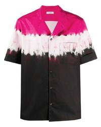 mehrfarbiges Mit Batikmuster Kurzarmhemd von Valentino