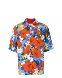 mehrfarbiges Kurzarmhemd mit Blumenmuster von AMI Alexandre Mattiussi