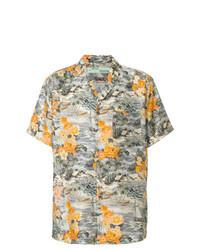 mehrfarbiges Kurzarmhemd mit Blumenmuster von Off-White