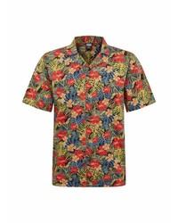 mehrfarbiges Kurzarmhemd mit Blumenmuster von Urban Classics