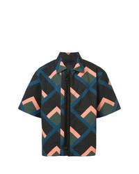 mehrfarbiges Kurzarmhemd mit geometrischen Mustern von Craig Green