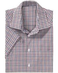 mehrfarbiges Kurzarmhemd mit Karomuster von Classic