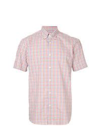 mehrfarbiges Kurzarmhemd mit Karomuster von Gieves & Hawkes