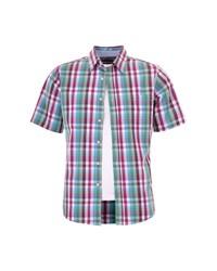 mehrfarbiges Kurzarmhemd mit Karomuster von NAVIGAZIONE