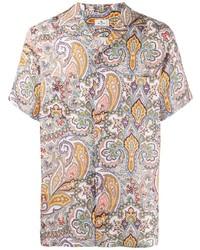 mehrfarbiges Kurzarmhemd mit Paisley-Muster von Etro
