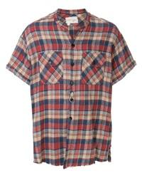 mehrfarbiges Kurzarmhemd mit Schottenmuster von Greg Lauren