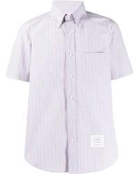 mehrfarbiges Kurzarmhemd mit Vichy-Muster von Thom Browne