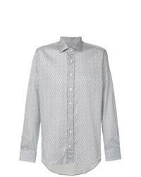 mehrfarbiges Langarmhemd mit Paisley-Muster