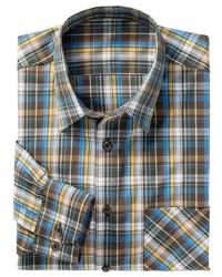 mehrfarbiges Langarmhemd mit Schottenmuster von Classic