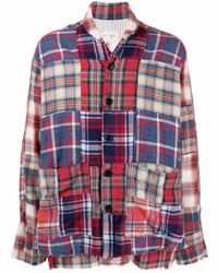 mehrfarbiges Langarmhemd mit Schottenmuster von Greg Lauren