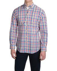 mehrfarbiges Langarmhemd mit Vichy-Muster