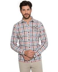 mehrfarbiges Langarmhemd mit Vichy-Muster von Camp David