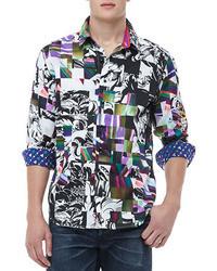 Mehrfarbiges Langarmhemd