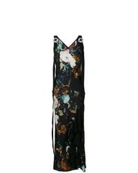mehrfarbiges Maxikleid mit Blumenmuster von Antonio Marras