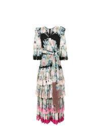 mehrfarbiges Seide Ballkleid mit Blumenmuster von Dolce & Gabbana